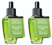 Bath & Body Works EUCALYPTUS MINT Wallflower Fragrance Refill Bulbs x 2 Lot