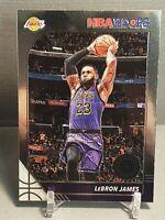 2019-20 NBA Hoops Premium Stock LeBron James #87 Los Angeles Lakers