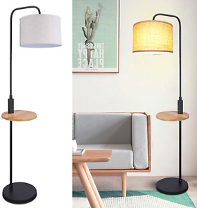 Modern Arc Floor Lamp with Tray Table, LED Reading Standing Lamp with Dual USB &