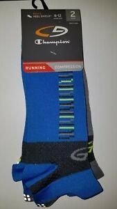 New Mens Champion Sport Compression Running socks 2 pair set Size 6-12