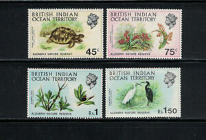British Indian Ocean Territory 1971: #39-42 Nature Reserve, Birds, Flor:Lot#9/11