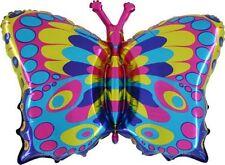 35 Inch Colourful della farfalla Foil Balloon - aria o elio Fill (CS131)