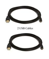2 USB CABLES for Canon G15 ZR400 ZR600 ZR700 ZR830 ZR850 IXUS 100 IS I ZOOM i5