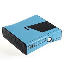 Bleu clair texturé effet fibre de carbone xbox 360 slim Decal Peau Autocollant Wrap