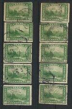 Canada #155  Mt Hurd  1928 Commemorative Used -  Lot of 10 Retail Value $25.00