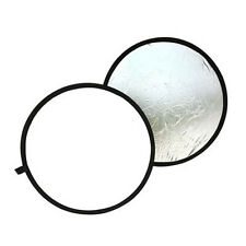 Round reflector For photography Diameter 80cm Foldable silver & white BT
