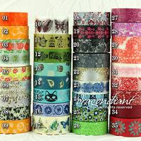 Washi Tape Paper Decorative Adhesive Masking Roll Card Craft Trim Floral Animal