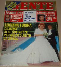 GENTE=1995/38=LUCIANA TURINA=KIM ROSSI STUART=MICHAEL JACKSON=BERNARD BOURSICOT