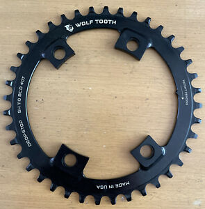 Wolf Tooth Drop-Stop 40T x 110 for Shimano Asymmetric Road / CX Bike Chainring