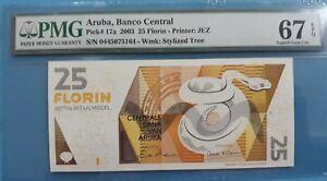 2003 Aruba 25 Florin PMG67 EPQ <P-17a> SUPERB GEM UNC