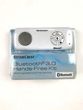 SilverCrest Bluetooth 3.0 Hands-Free Kit White new Phone Car Speaker Kit