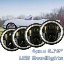 "4PCS DOT 5 3/4"" 5.75"" Projector LED Headlights Sealed Beam Lamp Bulbs Hi/Lo DRL"