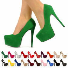 Leather Court Synthetic Formal Heels for Women