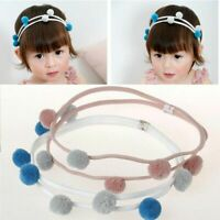 Baby Hair Accessories Headband Fur Pompom Double Layer Hairbands Hair Band