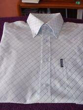 Lambretta Azul Diagonal compruebe Camisa L S/S muy Mod/Piel/Ska apenas usado