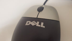 Dell Optical USB Mouse with Center Scroll Wheel | Black & Silver with Red Light