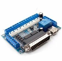 CNC Breakout Board 5 Axis with Optical Coupler for MACH3 Stepper Motor Driver