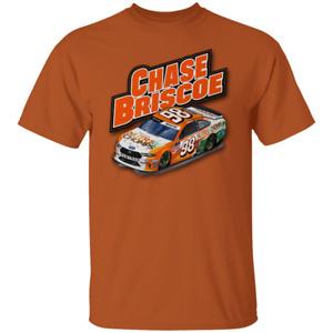 Men's #98 Chase Briscoe Nascar 2020 Short Sleeve Orange T-Shirt For Fan M-3XL