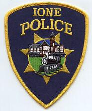 IONE CALIFORNIA CA train POLICE PATCH