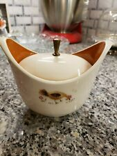 Vintage Taylor And Smith Rooster Sugar Bowl