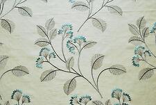 "John Lewis soft furnishing fabric ""Grace"", Polyester, duck egg, 1.6m length"