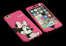 "for Apple iPhone 6 6S 4.7"" Pink Minnie Mouse Back + Front Case cover Defender"