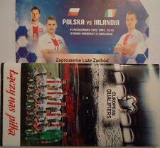 VIP TICKET & Mappe 11.10.2015 Polen Polska Poland - Irland Ireland