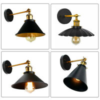 E27 Retro Vintage Light Shade Ceiling Industrial Wall Lights Sconce Lamp Fixture
