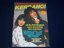 1984 AUGUST 9-22 KERRANG! MAGAZINE - JAKE E. LEE COVER - MUSIC ISSUE - A 1960