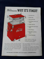 Vintage Acton Coca-Cola Cooler Advertisement - Add To Your Coke Collection!