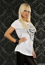 Cotton Blend Short Sleeve Stretch Other Tops for Women