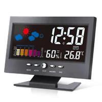 LCD Digital Thermometer Hygrometer Clock Alarm Calendar Weather Forecast Display