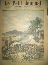 GRECE  TREMBLEMENT DE TERRE VAISSEAU AMIRAL ET TORPILLEUR LE PETIT JOURNAL 1893
