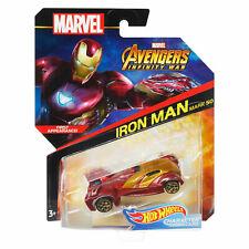 Hot Wheels Character Cars 1:64 Scale Marvel Avengers Infinity War IRON MAN Mk 50