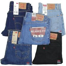 Levis 550 Mens Jeans Relaxed Fit Sits At Waist~~Stonewash, Black~~New With Tags!
