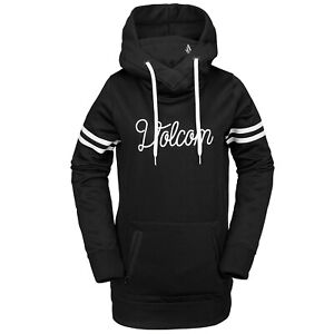 VOLCOM Womens 2020 Snowboard Snow SPRING SHRED HOODY Black