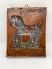 German Wax Springerle Mold Horse Hand Painted