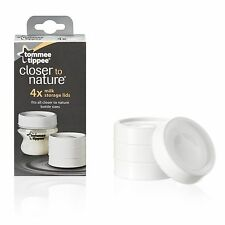 Tommee Tippee Closer to Nature Milk Storage Lids x 4