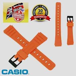Genuine Casio Watch Strap Band for F-91WC-2A F 91WC 91 BRIGHT ORANGE COLOUR