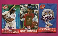 2000 2001 2003  MONTREAL EXPOS  POCKET SCHEDULE  (INV# 8343)