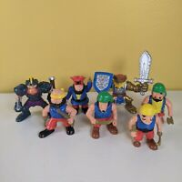 "7 Vintage 1990's Fisher Price Pirates and Medieval Knights 2.5"" Figures F-P Inc"