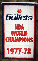 Washington Bullets NBA Championship FLAG 3x5 ft Classic Sports Banner Man-Cave