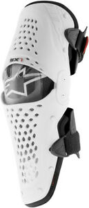 Alpinestars SX-1 Knee Guard Protector Black/White Mens Size 2XL
