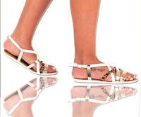 Ladies Women's Summer Beach Sandals Slingback Flat Comfy Open Toe Shoes Size 5
