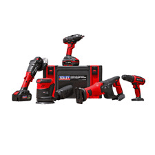 Sealey CP20VCOMBO2 20V 5 Piece Cordless Tool Kit With 2 Batteries