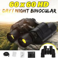 60X60 Zoom Day Night Vision Outdoor Zoom HD Binoculars Hunting Telescope + Case