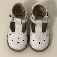 Footmates Girls 'Harper' Sz 5M White Leather Shoes Leather Lined Barely Worn!