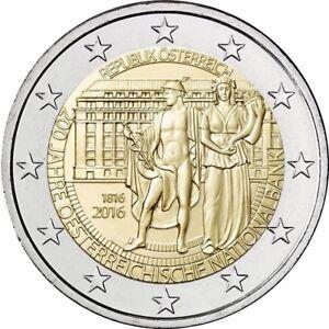 2 Euro austria 2016 commemorativo banca nazionale fdc *LEGGERE DESCRIZIONE