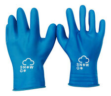 Kids Childrens Winter Waterproof Rubber Latex Gloves Cold Protection Snow-go Blue 4-7 Years