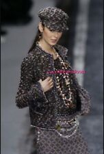 CHANEL 04A MOST WANTED BLACK AND MULTICOLOR POM POM TWEED TOP AND JACKET SUIT 34